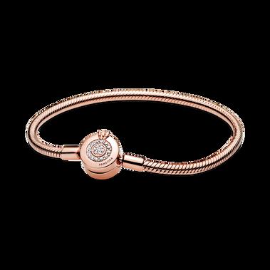 Bracelet Maille Serpent O Couronné Scintillant Pandora Moments