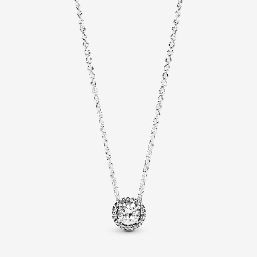 Collier Halo Scintillant Rond image number 0
