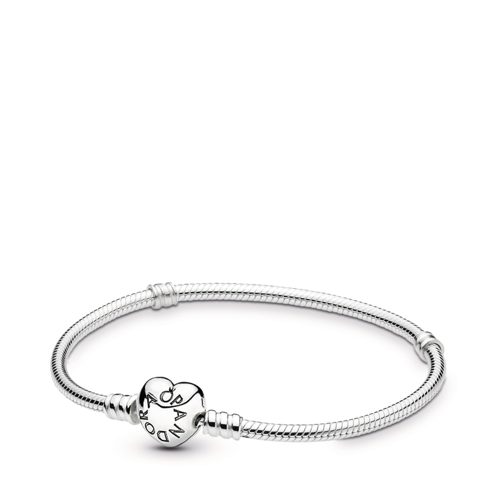 Bracelet Moments en Argent 925/1000e, Fermoir Cœur